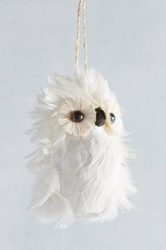 Feathered Owl Ornament | Pinned by topista.com