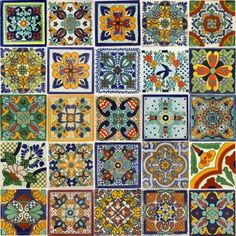 Mixed Talavera Tile Set - x6065