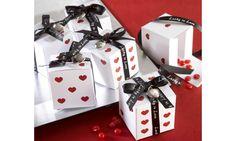 Boite à dragées dés coeur :  Mariage Casino Las vegas