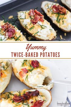 This recipe for twice baked potatoes is a great alternative to serving the traditional mashed potatoes plus they freeze great! Fancy Appetizers, Easy Appetizer Recipes, Healthy Appetizers, Easy Dinner Recipes, Dinner Ideas, Recipe For Twice Baked Potatoes, Spicy Corn Dip, Honey Roasted Carrots, Thing 1