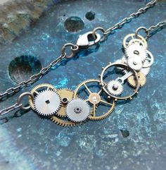 Watch Gear Necklace Current Elegant Recycled by amechanicalmind, $45.00