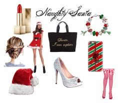 """Naughty Santa"" by im-broke-and-ugly-af ❤ liked on Polyvore featuring moda, Lauren Lorraine, John Lewis, Casetify, Bling Jewelry e Burberry"