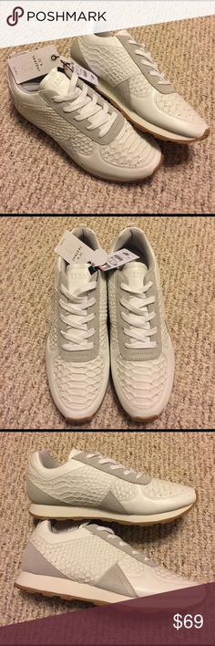 NWT ZARA EMBOSSED LEATHER SNEAKERS Brand new with tags! New, never worn. Sold out online! Real leather. These are extremely rare and hard to find!! Zara Shoes Sneakers