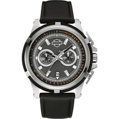 Harley-Davidson Men's Watch by Bulova Harley Davidson Watches, Motorcycle Style, Motorcycle Fashion, Discount Watches, Cheap Gifts, Bulova, Watches Online, Gifts For Dad, Chronograph