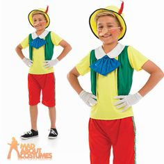 #Child pinocchio costume boys #fairytale puppet fancy dress book week #outfit new,  View more on the LINK: 	http://www.zeppy.io/product/gb/2/161580073608/