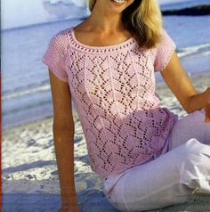 Crochet blousecrochet top crochet sweaterhand knit sweater