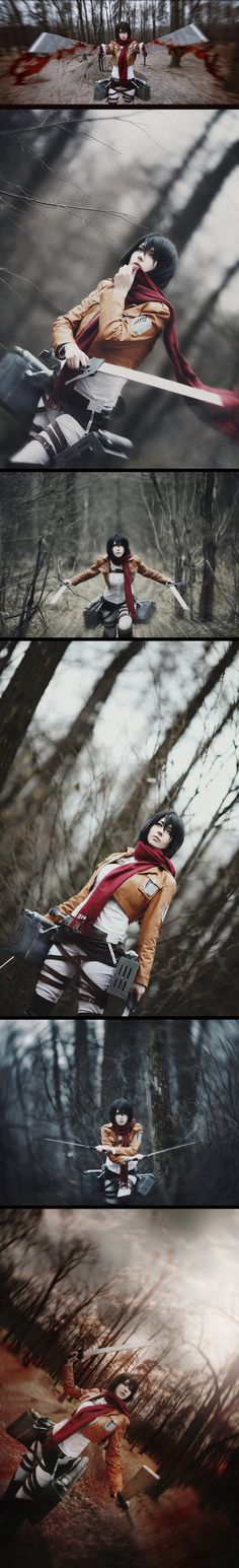 Mikasa - Attack on Titan #anime #cosplay. This is the best Mikasa cosplay i have ever seen!