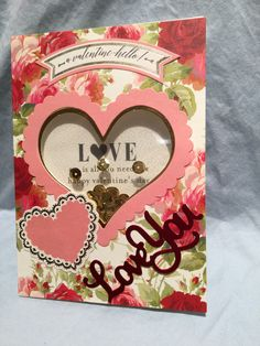 Anna Griffin Valentine Shaker card kit and AG word die
