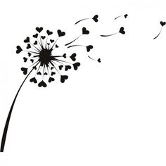 Discover thousands of images about Love Heart Dandelion Flowers Wall Stickers Wall Art Decal . Heart Stencil, Dandelion Flower, Dandelion Drawing, Dandelion Wall Art, White Dandelion, Flower Wall Stickers, Easy Drawings, Doodle Art, Painted Rocks