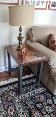 The customer supplied their own bases and we simply made the walnut tops to their specs! #custommade #sidetable #customsidetable #walnuttable #walnutsidetable #metalsidetable #familyroomfurniture #familyroomdesign #sittingroomfurniture