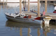 This is almost exactly the same 1957 boat and engine I grew driving and skiing behind. It would fly. For a 12 year old kid,it was better than a car. Loved this boat. Aluminum Fishing Boats, Aluminum Boat, Aluminum Cans, Old Boats, Small Boats, Cabin Cruiser Boat, Outboard Boat Motors, Boating Holidays, Boat Restoration