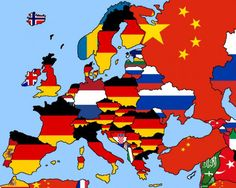 If you ever wondered why Non-European countries are so eager to EU fail look at this map of major importers for each EU country and notice how you don't see the US or Chinese flag in Europe European Map, European Countries, European History, Geography Map, World Geography, Funny Maps, History Memes, Historical Maps, History Museum