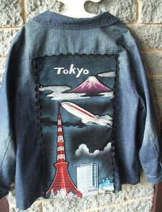 "Recycled,Repurposed,Renewed.: ""Well Travelled Rock Chick"" Denim Jacket"