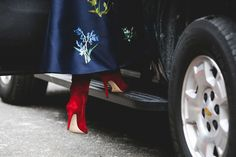 All The Surprisingly Practical Shoes Spotted At New York Fashion Week #refinery29  http://www.refinery29.com/2016/02/103028/best-shoe-trends-new-york-fashion-week-2016#slide-19  A dramatic satin skirt demands some equally as dramatic boots....