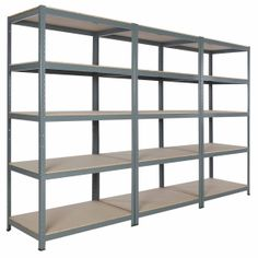 "Steel Metal Garage Commercial Storage Shelving 71""hx36""wx24""d With 5 Shelves"