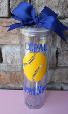 End of Season Softball Gifts | Personalized softball tumblers! End of season gifts for the girls but ...