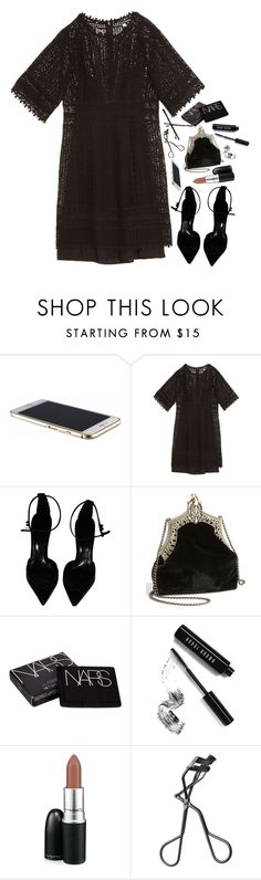 """кружева"" by umbrella129 ❤ liked on Polyvore featuring Rebecca Taylor, Burberry, House of Harlow 1960, NARS Cosmetics, Bobbi Brown Cosmetics, MAC Cosmetics and Goody"