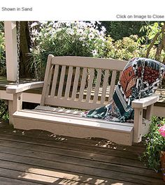 Classic Mission 4ft Poly Lumber Porch Swing by Little Cottage Company