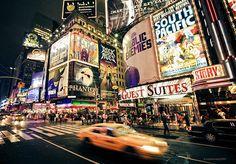 NYC. Bright Broadway at night