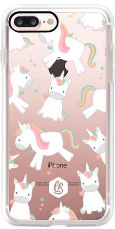 Casetify iPhone 7 Plus Case and other Unicorn iPhone Covers - Unicorns by Little Box Studio | Casetify