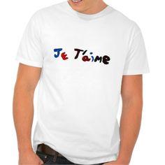 """je t'aime"" mens tee shirt"