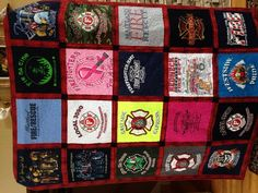 How to Make a Quilt from Tee Shirts: 11 Steps (with Pictures) Really good tutorial for a novice ( like me)!