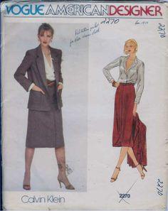 Patternaholic: Vogue 2270 Calvin Klein Jacket Blouse and Slim ...
