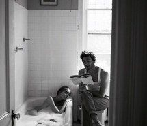 Inspiring image reading, couple, mood, bathroom, love #4163563 by marine21 - Resolution 500x717px - Find the image to your taste