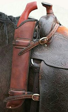 Leather shotgun holester