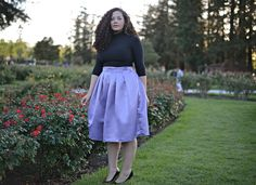 :: Midi Skirt in Lilac :: www.TaneshaAwasthi.com