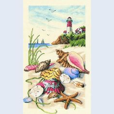 Seaside Treasures - Dimensions counted cross stitch kit