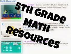 Teaching 5th Grade Math?? - this is a linked list of free online games that 5th grade students can use to practice skills. Great for teachers, students, and parents!