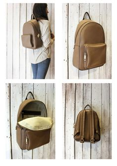 Giò Giò 4 , Leather BackPack, handmade in Italy di LaSellerieLimited su Etsy