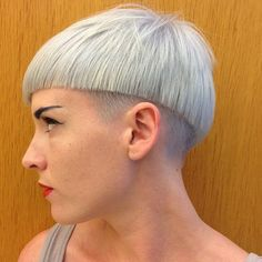 Silver Bowl Cut With Undercut