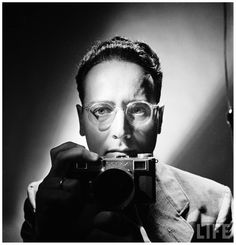 Andreas Feininger was born in Paris, France, in His father, Lyonel Feininger was an ex-patriot American living and working in Germany; therefore, Andreas was raised in Germany and eventually trained as an architect at the famed Bauhaus. Photographer Self Portrait, Professional Photographer, Portrait Photography, Black And White Portraits, Black And White Photography, Bauhaus, Style International, Boring Pictures, The Dark Side