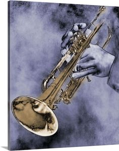 Caucasian Ethnicity Digital Art - Trumpet Player by Nick White Jazz Trumpet, Trumpet Music, Trumpet Accessories, Trumpet Tattoo, Trumpet Instrument, Brass Musical Instruments, Saxophone Players, Trumpet Players, Jazz Art