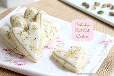 Pistachio Cut Out Cookies @createdbydiane