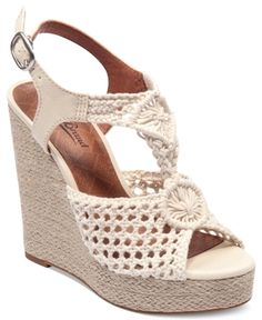 Lucky Brand Women's Shoes, Rilo Platform Wedge Sandals Women's Shoes in March Shoe Diva 2013 from Macy's on shop.CatalogSpree.com, my personal digital mall.