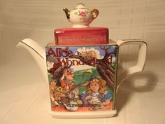 James Sadler Teapot Classic Children's Stories Alice in Wonderland Tea Party #JamesSadler