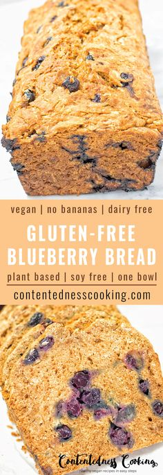 Gluten-Free Blueberry Bread made with fresh blueberries and without bananas. it's naturally vegan, made with just 6 simple ingredients and super easy to make. Makes an amazing dairy free breakfast, de (Vegan Gluten Free Blueberry) Brownie Desserts, Oreo Dessert, Mini Desserts, Coconut Dessert, Coconut Sugar, Coconut Oil, Gluten Free Blueberry, Blueberry Bread, Vegan Gluten Free