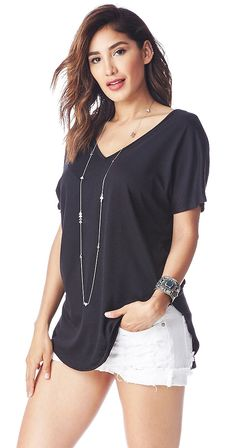 A V-neck in the front and back of this top makes it special. Short sleeves and a hi low hemline keep it cool. Wear the Clean Cut tee with your favourite shorts or denim, this is an instant classic. Silver Icing, Cut Tees, Layered Tops, Online Collections, Fashion Company, Best Brand, Chic Outfits, Fashion Online, Street Style