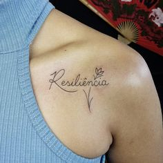 #resiliência #resiliencia #resilienciatattoo #line #linework #blackline #blackart #art #tattoart #tattoo #tatuaje #tatuagem #escrita #escritatattoo Dream Tattoos, Mini Tattoos, Cute Tattoos, Body Art Tattoos, Small Tattoos, Sleeve Tattoos, Tatoos, Resilience Tattoo, Dancer Tattoo