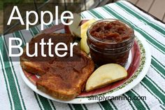Incredibly easy method for canning apple butter. Slow cook the apples overnight…