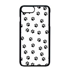 Dog paws pattern, black and white vector illustration, animal love theme iPhone 8 Plus Seamless Case (Black) Apple Mobile, Dog Paws, Iphone 8 Plus, Creative Design, Iphone Cases, Animal, Black And White, Illustration, Pattern