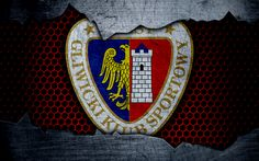 Download wallpapers Piast, 4k, logo, Ekstraklasa, soccer, football club, Poland, grunge, Piast Gliwice, metal texture, Piast FC