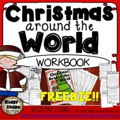 **FREE** Christmas Around the World Student Workbook - Australia Holidays Around The World, Around The Worlds, Educational Activities, Fun Activities, Christmas In Australia, Christmas Worksheets, Christmas History, Christmas Preparation, Preschool Lesson Plans