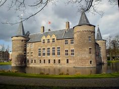 Medieval castle with castle-moat (± 1330 A.D.), Helmond, The Netherlands