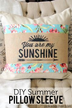 BHG - DIY Summer Pillow Sleeve