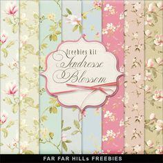 "New Freebies Kit of Paper - ""Tendresse Blossom"""