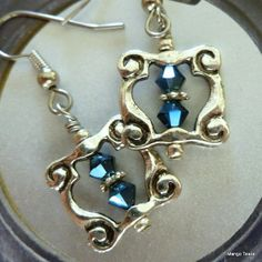 Frame It Blue Earrings by MangoTease